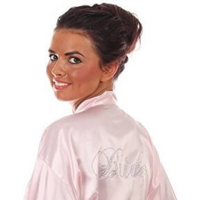 Pink Satin Bridal Robe