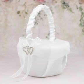 Diamante Sweethearts Flower Girl Basket