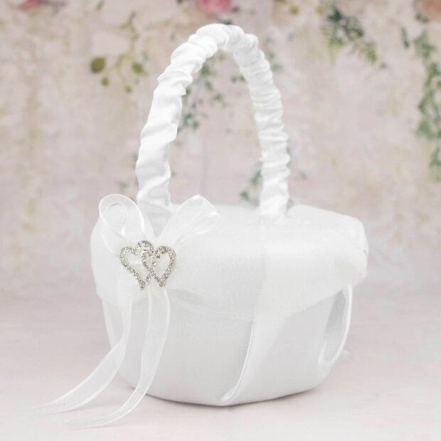 diamante sweethearts flower girl basket
