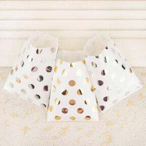 Metallic Dots Cake Bags