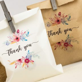 Floral Cake Bags with Thank You