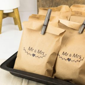 Mr and Mrs Wedding Cake Bags