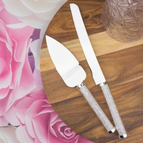 Diamond Handle Cake Knife and Server Set