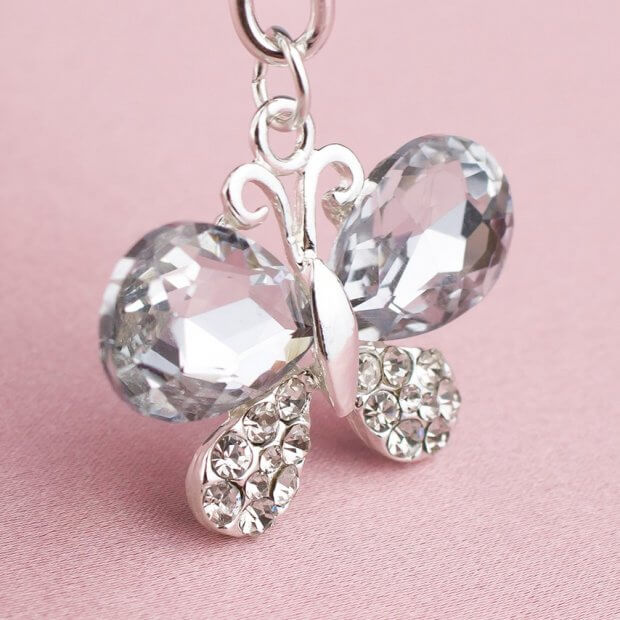 crystal butterfly bridal charm