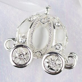 Silver Wedding Carriage Bridal Charm
