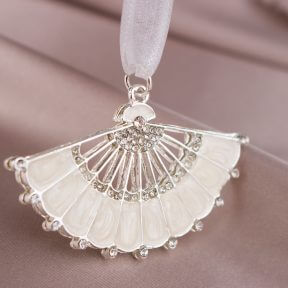 Pearl & Diamante Fan Bridal Charm