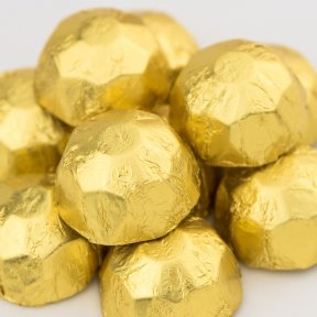 gold chocolate diamonds