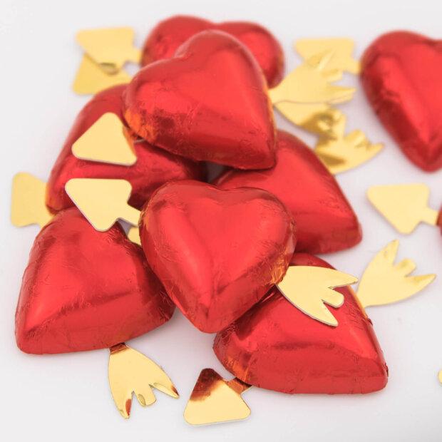 cupids arrow chocolate hearts
