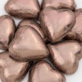 mocha chocolate hearts