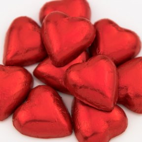 Red Chocolate Hearts