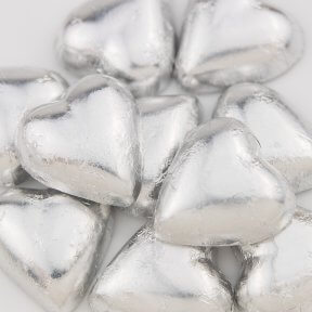 Silver Chocolate Hearts