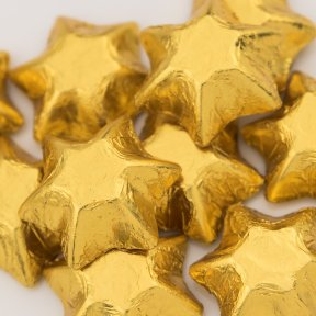 Gold Chocolate Stars