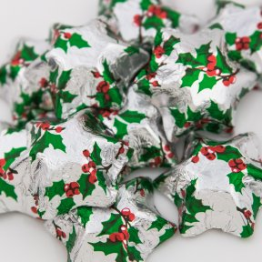 Holly Chocolate Stars