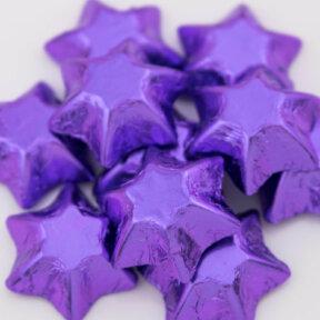 purple chocolate stars