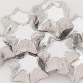 Silver Chocolate Stars