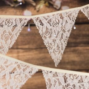 Cream Vintage Lace Bunting
