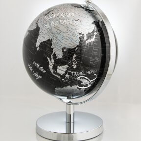 Silver Guest Signing Globe - Small