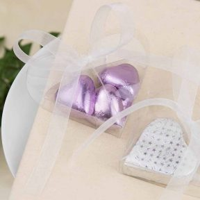 clear heart favour box