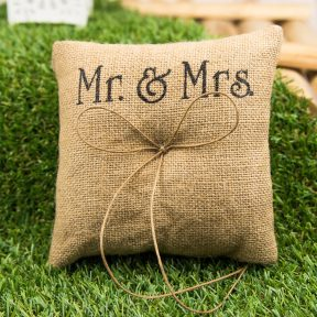 mr and mrs ring pillow