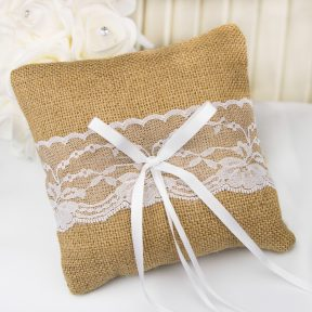 A Touch Of Lace Ring Pillow - Small