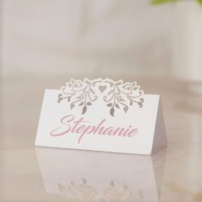 Blooming Hearts Name Place Cards