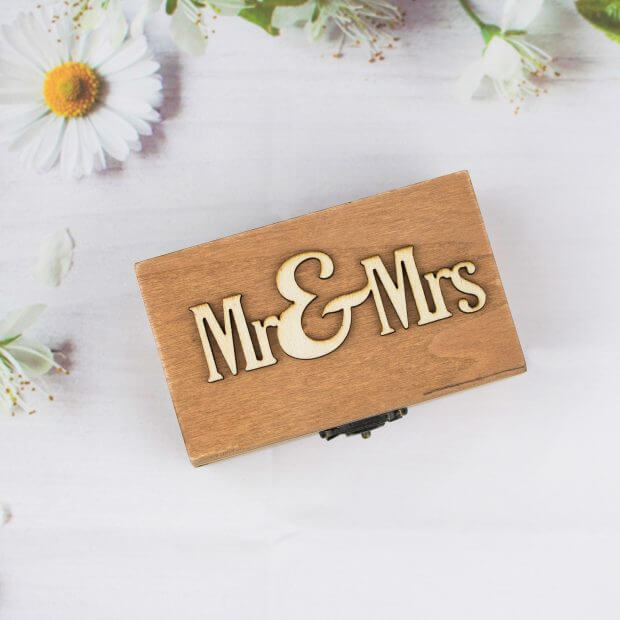 mr and mrs wedding rings box