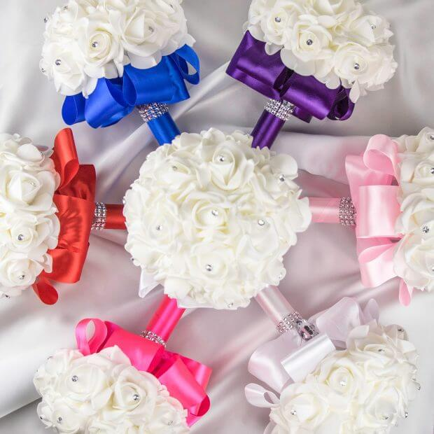 flower girl rose bouquets