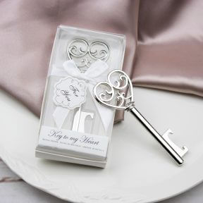 Silver Key To My Heart Bottle Opener