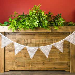 White Vintage Lace Bunting - Multi Pattern