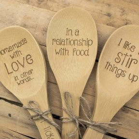 Bamboo Spoon With A Fun Message