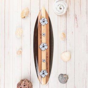 Retro Signature Hibiscus Surfboard