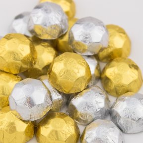 Gold and Silver Chocolate Diamonds