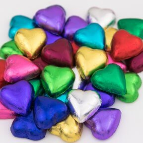 Eleven Colours Chocolate Hearts Mix