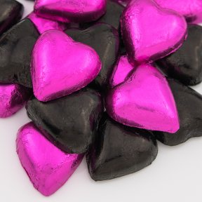 fifi mix chocolate hearts black and hot pink