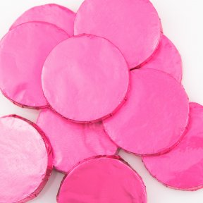 Pink Milk Chocolate Medallions