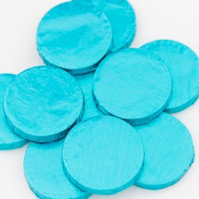 Light Blue Chocolate Medallions