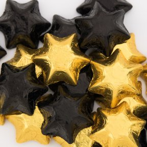 Black and Gold Chocolate Stars