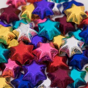 Eight Colour Chocolate Stars Mix