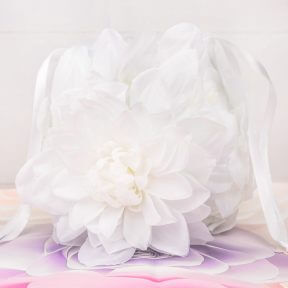 Gardenia Flower Girl Basket