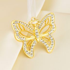 Gold Butterfly Bridal Charm