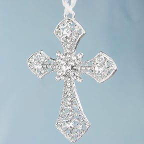 Silver Cross Bridal Charm