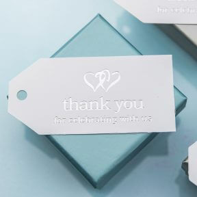 Thank You For Celebrating Favour Cards