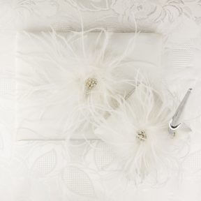 Fabulous Feathers Guest Book and Pen Set