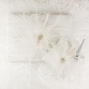 Fabulous Feathers Guest Book & Pen Set