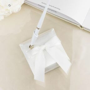 Wedding Pen with White Organza Bow