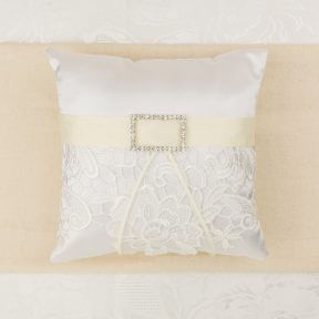 Ivory Elegance Ring Pillow