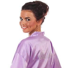 Lavender Satin Bridal Robe