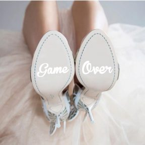 Game Over Wedding Shoe Stickers