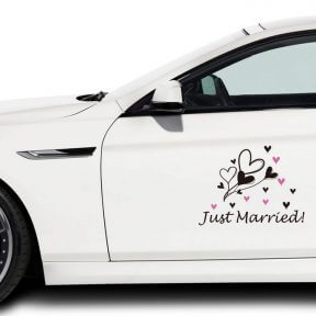 Bounty Of Hearts Car Decal