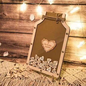 Mason Jar with Signature Hearts
